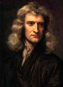 Sir Isaac Newton,brooding over lofty concepts