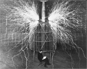 Nikola Tesla in Wardenclyffe Lab