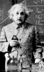 Einstein drinking Mate